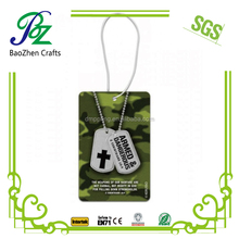 Absorbent cardboard paper car scent air freshener/Dog tag perfume for car