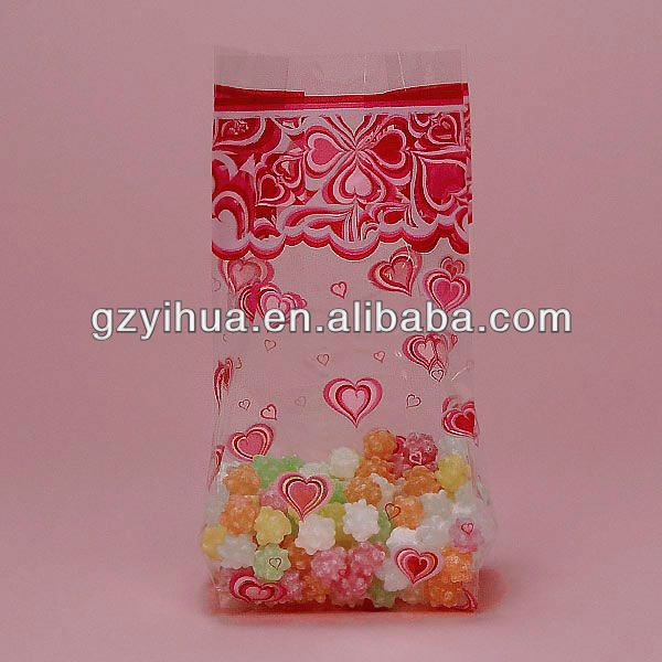 Custom printed clear PP plastic candy bags