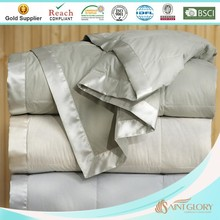 pure cotton fabric and satin trim down blanket for sale