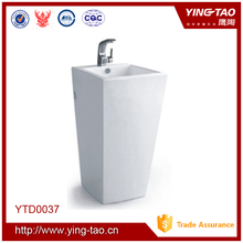 bathroom ceramic square pdestal sink