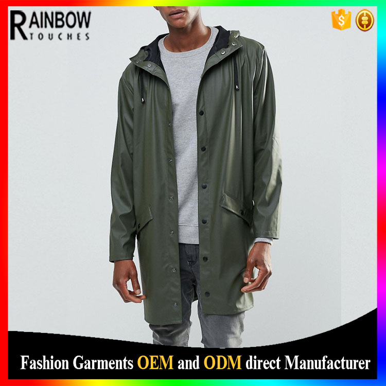 Rains long hooded jacket windbreaker 100% waterproof jacket