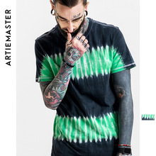 2017 highly street mans wear super fashion unique t shirt tie dyed custom cotton O neck top tees for man