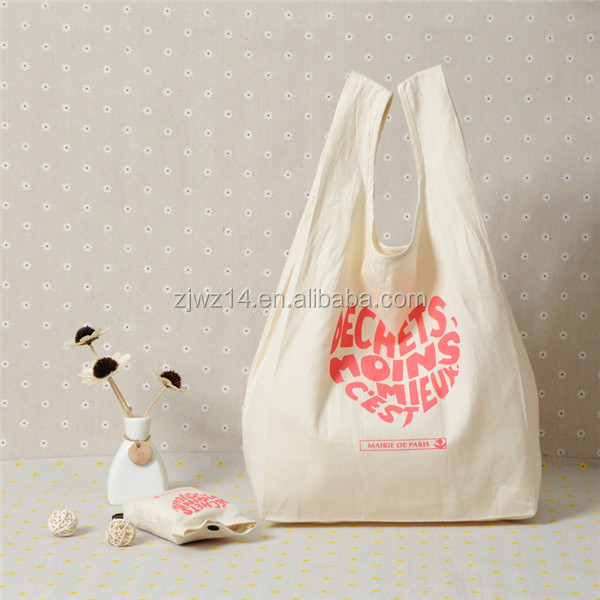 eco cotton shopping bag/ promotion reusable cotton bag/ drawstring jute bag