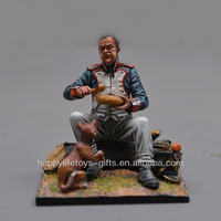 OEM 7CM antique metal soldier figures Alloy Metal Sculpture