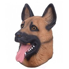 HOT!!! German Shepherd Wolf Dog Mask Realistic Rubber Full Head/Face Animal Dog Latex Mask For Halloween Carnival Party