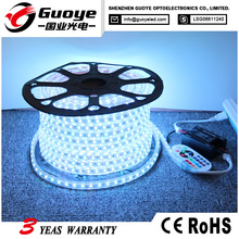 Wholesale 5050 led strip 220v rgb with IP67 waterproof remote controller for Venues dressing room lighting