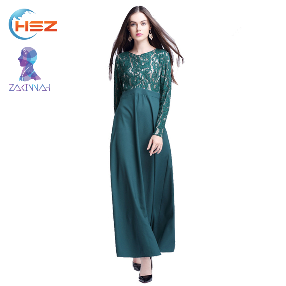 Zakiyyah 060 Comfort breathable long lycra dress islamic clothing trendy printed kaftans wholesale india