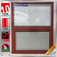Australia style wood grain aluminum frame chain winder awning window for country house