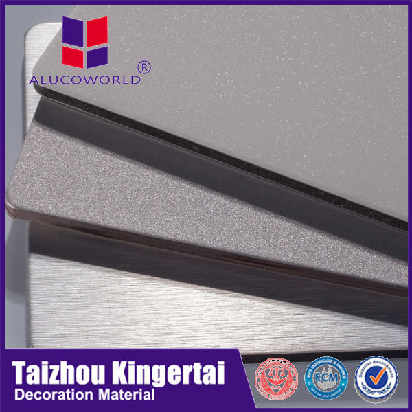 Alucoworld non-toxic and low-density Polyethylene pvdf/pe aluminum composite panel acp cladding curtain wall