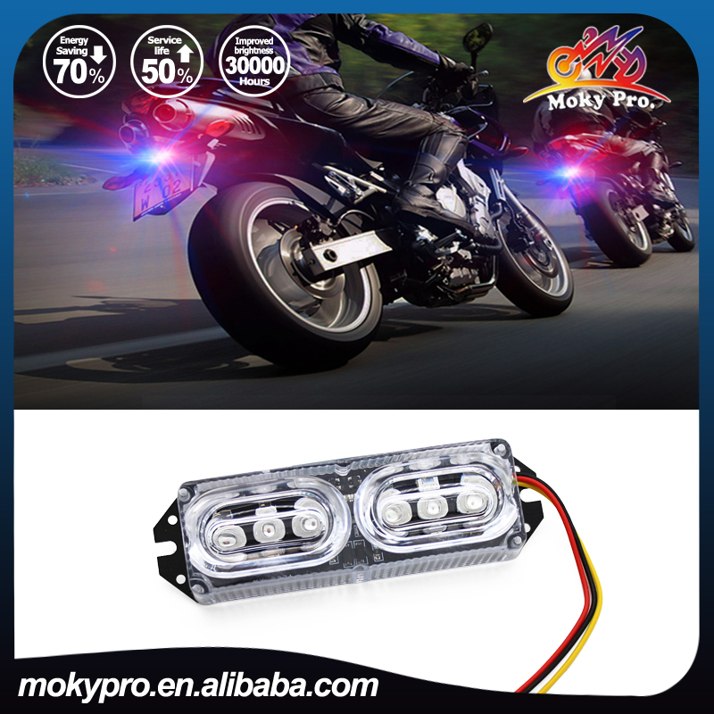 12V LED emergency strobe flash warning knight rider 6leds strobe light for motorcycle