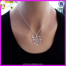 Pregnant 925 silver jewelry tree and leaf of life fashion jewelry in necklace family tree pendant