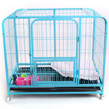 large iron metal dog pet animal crate dog cages with wheels