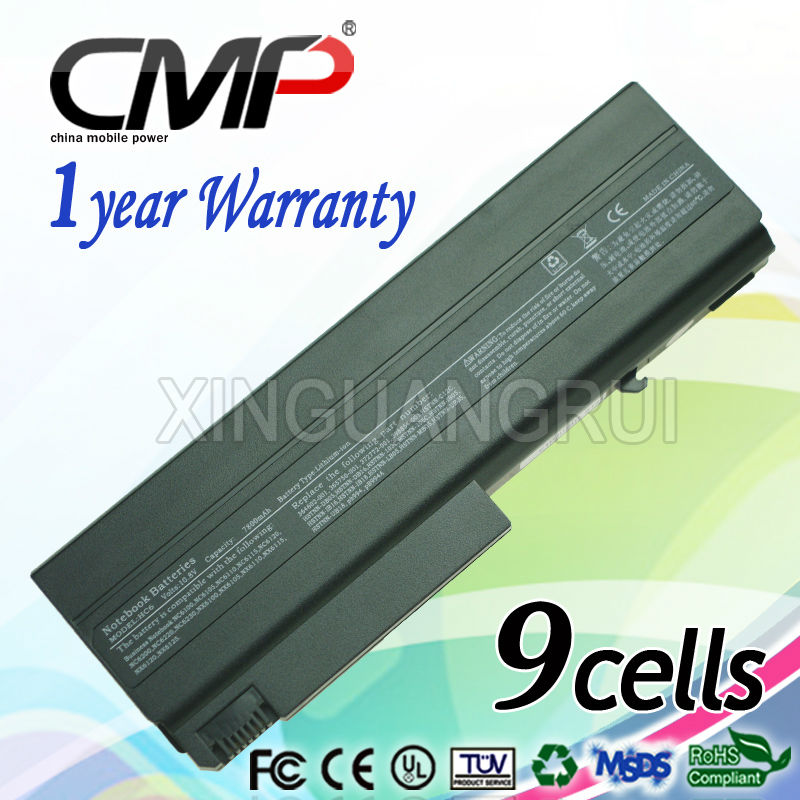 CMP latest replacement Laptop Battery for HP H40 NC6120 HSTNN-105C NX6115 7800mAh 10.8V black notebook battery