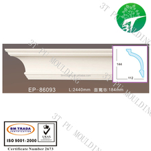 EP-86093 pu cornice foam polyurethane skirting board polystyrene lowes ceiling medallion plastic moulding