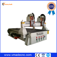 cheap price Double Spindle Woodworking CNC Router/vmade Two Heads Wood Door Making Machine 2000*3000