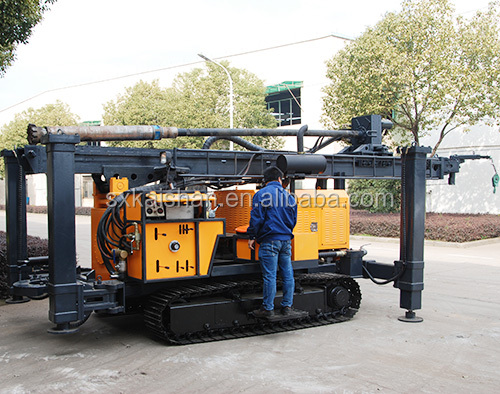 KAISHAN KW600 450m depth 130 ~ 350mm diameter crawler mounted multifunctional geothermal water well drilling rig