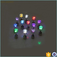 2015 NEW Design Light Up LED Glowing Stainless Steel Stud Earrings