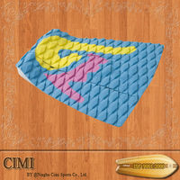 High quality customized Glue 3M water sports deck pads tail pad PVC LOGO traction pads