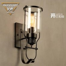 Zhongshan supplier loft style industrial antique wall mounted decorative lighting indoor wall lamp for coffee shop