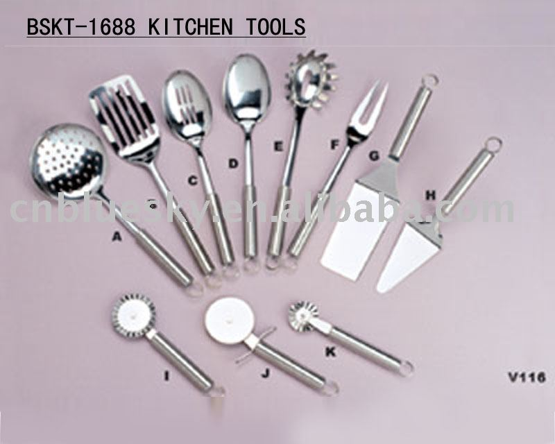Bskt 1688 menaje de acero inoxidable set utensilios for Productos de menaje