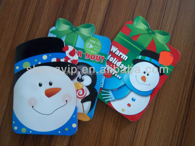 Customized 3D handmade snowman christmas greeting card with Snow Bros