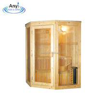 China Factory Supply 2 person wooden dry steam sauna room