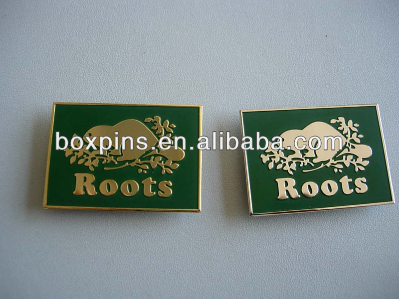 Custom high quality square soft enamel metal name plate/name badge