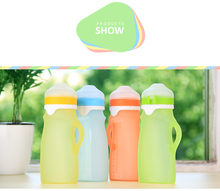 2017 new products mini baby milk bottle with soft medical grade silicone material