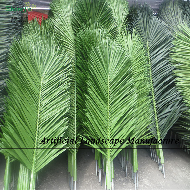SJCL - 03 Large artificial palm tree leaves , fake coconut leaves , green fresh coconut leave