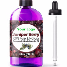 Private Label Juniper Berry Essential Oil (100% PURE & NATURAL - UNDILUTED) Therapeutic Grade - Huge 1oz Bottle - Aromatherapy