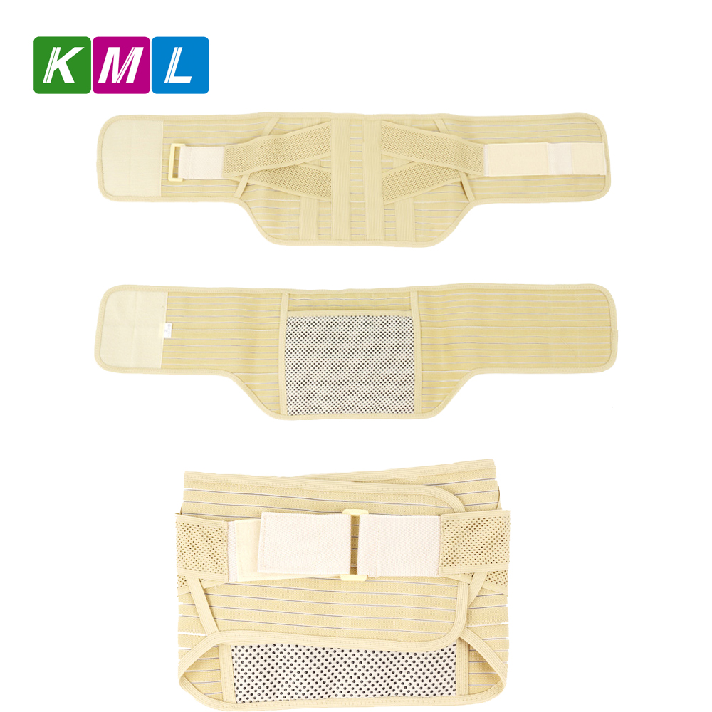 Tourmaline waist support belt with a self-heating bag on the back