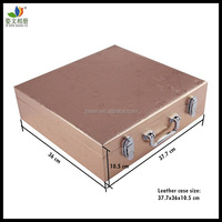 Recordable PU leather photo album case for wooden wedding albums
