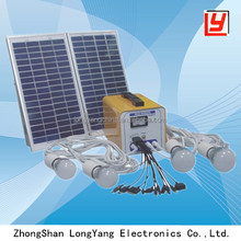 12W 7AH portable LED light solar power system for family use
