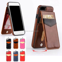 leather wallet standing bumper case back cover with card holders for Apple iphone 5 6 6s 7 7s Plus + A C 4 SE