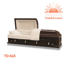 TD--A23 American style selected wood MDF veneer caskets for ash