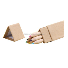 Wholesale School Wood Color Crayon Color Pensil For Paiting In Triangle Paper Package