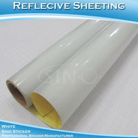 White Reflective Sticker Sheets/Heat Reflective Aluminum Sheets Vinyl Film