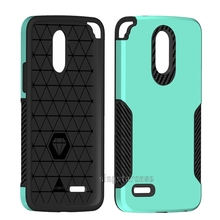 2018 Brushed carbon fiber cell phone case For LG STYLOS 3/STYLOS 3 PLUS/LS777 hard back cover