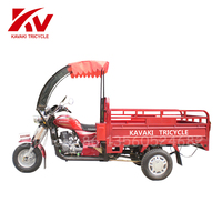 Guangdong Guangzhou KAVAKI Cargo Tricycle Gas With The Windshield / Tuktuk / Three Wheel Motorcycle