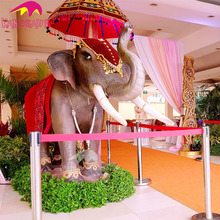KANO0034 Life Size Animatronic Animal Moving Elephant Statue