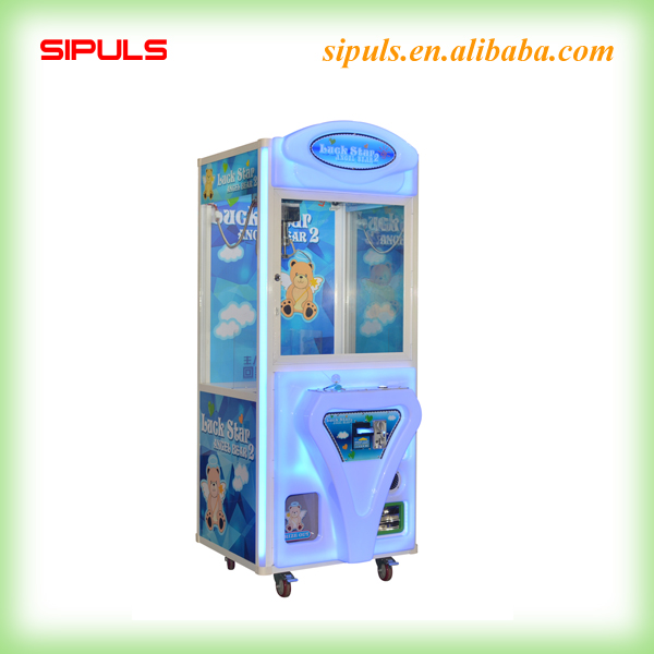 2016 Supply Deluxe Bill Operated Toy Claw Machine Acrylic Prize Winning Game Machine