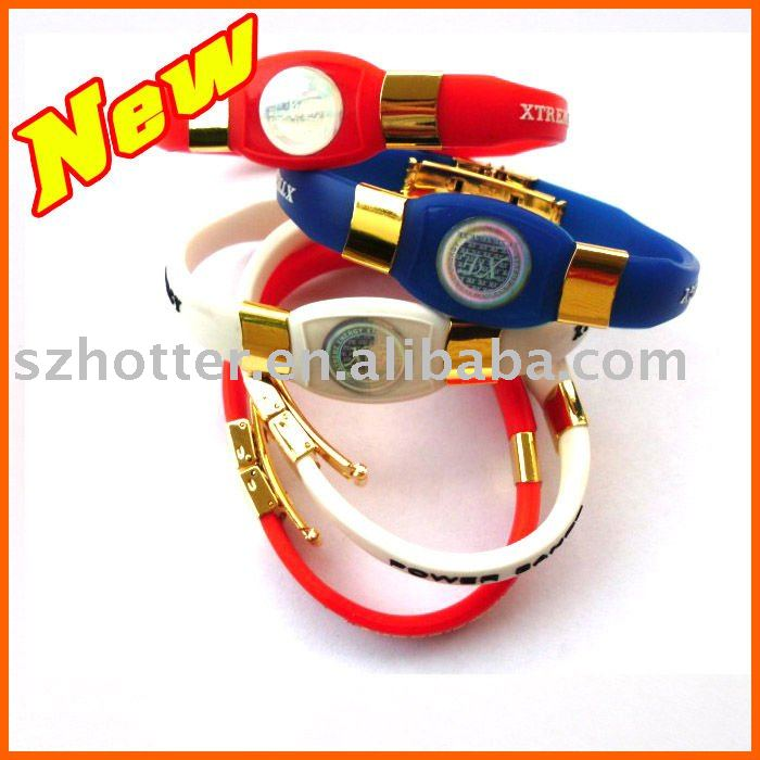 2011 New Stainless Silicone Energy Band