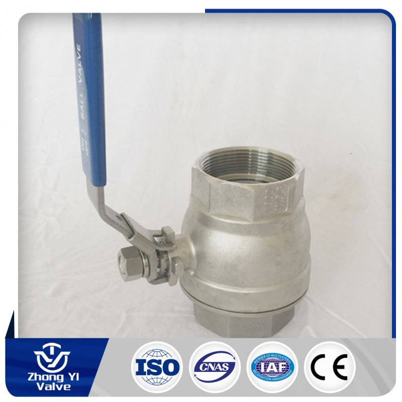 stainless steel spring return thread 2pc ball valve