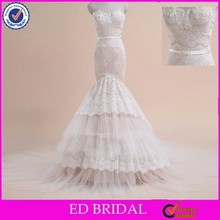 LN07 Whole Sale Price Best Factory For Imported From China Real Sample Mermaid Lace Wedding Dress