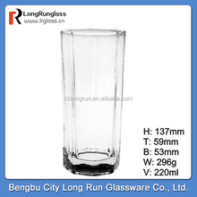 LongRun glass manufacturing 220ml octagon Collins glass for mixing drink