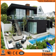 Two Storeys Modern Style Light Gauge Steel Frame Prefab Resort House