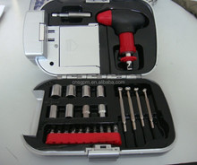 24 Piece Emergency Hand Tool Set With Flashlight -Portable For Home,Auto And Promotion