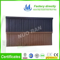 NUORAN roof tile cheap ppgi stone chip coated steel asphalt single