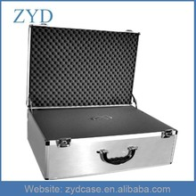 Smooth Silver Tool Box Tyep Aluminum Case With Foam ZYD-HZMsc030