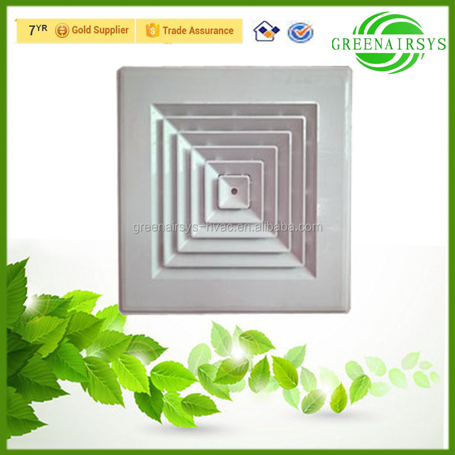 HVAC Four-way Ceiling Mounted Supply Square Plastic Air Grille Panel